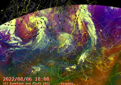 North Atlantic Synopsis with Air Mass Product