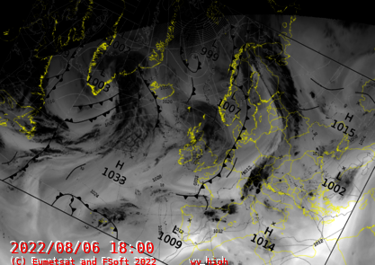North Atlantic Synopsis withWater Vapour High Product