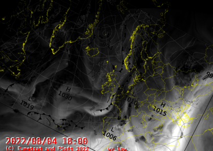 North Atlantic Synopsis with Water Vapour Low Product