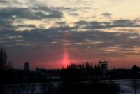 Sun Pillar - Photo Didi Abraham, Den Hage, Netherlands