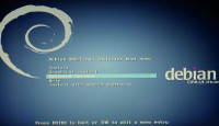 Screenshot of Debian Net Install